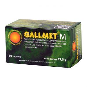 GALLMET-M 30 db epesav és gyógynövény kapszula
