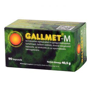 GALLMET-M 90 db epesav és gyógynövény kapszula