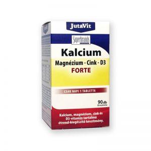 JutaVit Kalcium-Magnézium-Cink+D3 Forte 90db