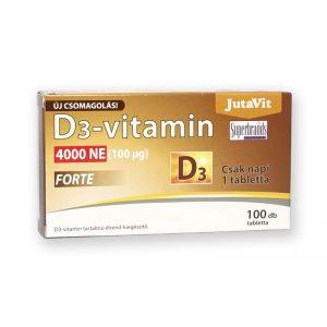 JutaVit D3 vitamin 4000NE (100µg) FORTE 100db