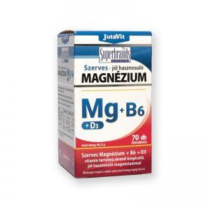 JutaVit Szerves Magnézium+B6+D3 70db